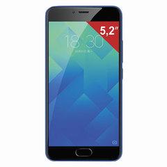 """Смартфон MEIZU M5 M611H, 2 SIM, 5,2"""", 4G, 5/13 Мп, 32 Гб, MicroSD, синий, пластик"""