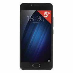 "Смартфон MEIZU M5C M710H, 2SIM, 5"", 4G, 5/13 Мп, 16 Гб, MicroSD, черный, пластик"