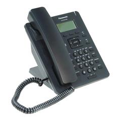 Телефон SIP PANASONIC KX-HDV100RUB, 1 SIP-линия, 1 х RJ45, черный, с блоком питания