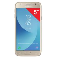 "Смартфон SAMSUNG Galaxy J3, 2 SIM, 5"", 4G (LTE), 5/13 Мп, 16 ГБ, microSD, золотой, металл и стекло (2017)"