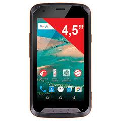 "Смартфон SENSEIT R450, SIM, 4,5"", 4G, 2/8 Мп, 8 ГБ, MicroSD, влагозащищенный, оранжевый, пластик"