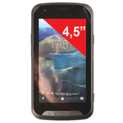 "Смартфон SENSEIT R450, SIM, 4,5"", 4 G, 2/8 Мп, 8 ГБ, MicroSD, влагозащищенный, серый, пластик"