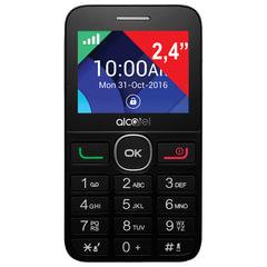 "Телефон мобильный ALCATEL One Touch 2008G, SIM, 2,4"", MicroSD, черно-серебристый"