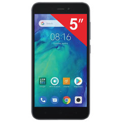"Смартфон XIAOMI Redmi GO, 2 SIM, 5"", 4G (LTE), 5/8 Мп, 8 Гб, microSD, черный, пластик"