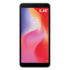 "Смартфон XIAOMI Redmi 6, 2 SIM, 5,45"", 4G (LTE), 5/5 + 12 Мп, 64 Гб, microSD, черный, пластик"