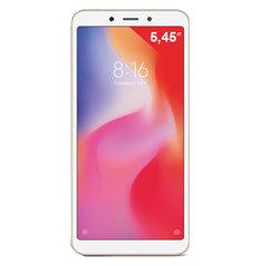 """Смартфон XIAOMI Redmi 6, 2 SIM, 5,45"""", 4G (LTE), 5/5 + 12 Мп, 32 Гб, microSD, золотой, пластик"""
