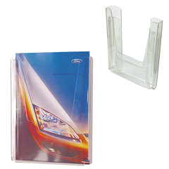 Подставка настенная для рекламных материалов ВЕРТИКАЛЬНАЯ (290х215х32 мм), А4, №12