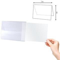 Табличка информационная, 210х150 мм (домик), настольная, двухсторонняя, оргстекло, в защитной плёнке, BRAUBERG