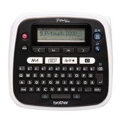 Принтер этикеток BROTHER РТ-D200VP, ширина ленты 3,5-12 мм, до 20 мм/с, разрешение 180 точек/дюйм, память на 2400 знаков, кейс