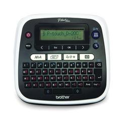 Принтер этикеток BROTHER PT-D200, ширина ленты 3,5 - 12 мм, до 20 мм/сек, разрешение 180 точек/дюйм, память на 2400 знаков