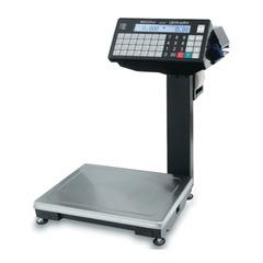 Весы с печатью этикеток МАССА-К ВПМ-15.2-Ф (0,04-15 кг), дискретность 5 г, платформа 340x245 мм, со стойкой