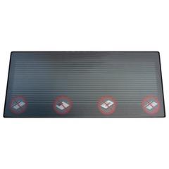 Деактиватор-коврик для акустомагнитных этикеток,12х28 см, контактный, черный