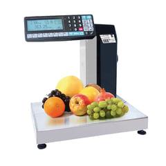 Весы-регистраторы с печатью этикеток МАССА-К МК-32.2-RP10-1 (0,1-32 кг), дискретность 10 г, платформа 340x244 мм, стойка
