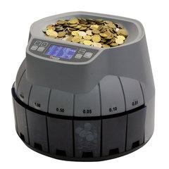 Счетчик-сортировщик монет CASSIDA Coin Master, 350 монет/мин., загрузка 3000 монет, 8 приемных лотков