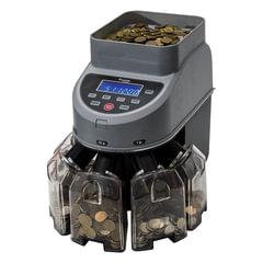 Счетчик-сортировщик монет CASSIDA Coin Max, 800 монет/мин., загрузка 1000 монет, 5 приемных лотков