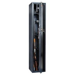"Сейф оружейный VALBERG ""Арсенал 148Т"", 1480х300х300 мм, 65 кг, на 4 ствола, 1 ключ, 4 полки, трейзер"