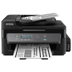 МФУ струйное EPSON M205 (принтер, сканер, копир), A4, 1440x720 dpi, 34 стр./мин, АПД, Wi-Fi, с СНПЧ (без кабеля USB)