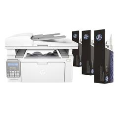 МФУ лазерное HP LaserJet Ultra M134fn (принтер, копир, сканер, факс), А4, 1200х1200, 22 стр./мин, 20000 стр./мес., сетевая карта