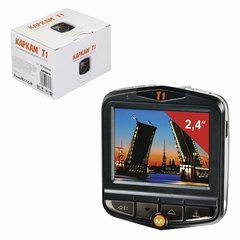 """Видеорегистратор автомобильный КАРКАМ Т1, 2,4"""", Full HD, MicroSDHC, черный"""
