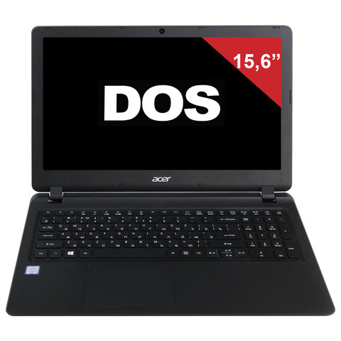 "Ноутбук ACER EX2540-37EN, 15,6"", INTEL Core i3-6006U, 2 ГГц, 4 ГБ, SSD, 128 ГБ, NO DVD, Intel HD, DOS, черный"