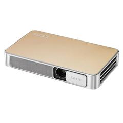 Проектор VIVITEK Qumi Q3 Plus, DLP, 1280x720, 16:9, 500 лм, 5000:1, LED, мобильный, 0,46 кг, золотой
