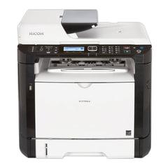 МФУ лазерное RICOH SP 377SFNwX (принтер, сканер, копир, факс), А4, 28 стр./мин., 35000 стр./мес., ДУПЛЕКС, АПД, с/к, Wi-Fi