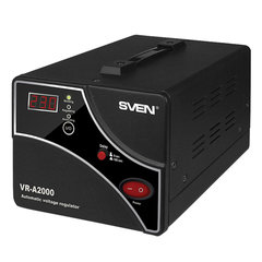Стабилизатор напряжения SVEN VR-A2000, 2000ВА/1200 Вт, 2 розетки, входное напряжение 140-275 В
