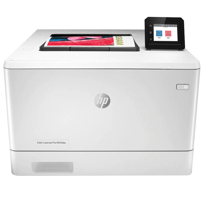 Принтер лазерный ЦВЕТНОЙ HP Color LaserJet Pro M454dw, А4, 27стр/мин, 50000 стр/мес, ДУПЛЕКС, WiFi, сетевая карта
