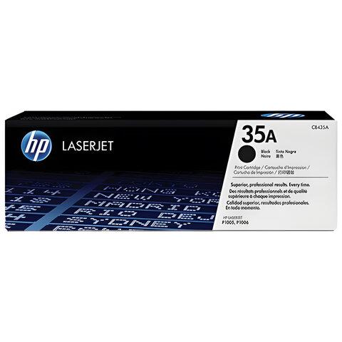 Картридж лазерный HP (CB435A) LaserJet P1005/P1006 и другие, №35А, оригинальный, ресурс 1500 стр.