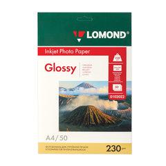 Фотобумага для струйной печати, А4, 230 г/м2, 50 листов, односторонняя глянцевая, LOMOND, 0102022