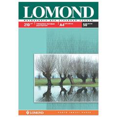 Фотобумага LOMOND для струйной печати, А4, 210 г/м2, 50 л., двухсторонняя, глянцевая/матовая, 0102021