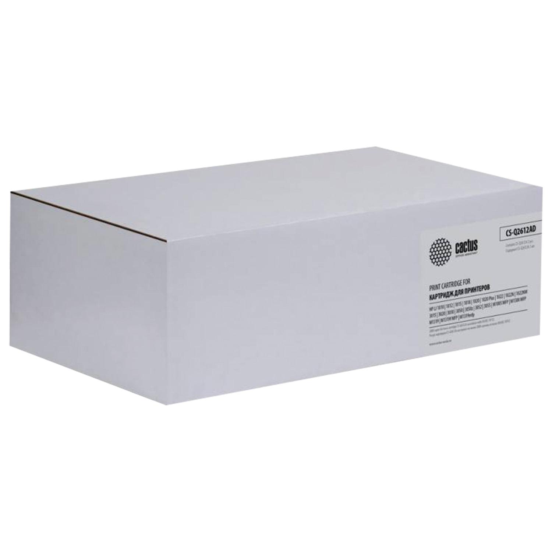 Картридж лазерный CACTUS (CS-Q2612AF) для HP LaserJet 1018/М1005, комплект  2 шт., ресурс 2×2000 стр.