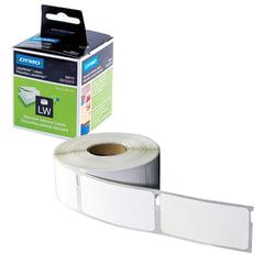 Картридж для принтеров этикеток DYMO Label Writer, этикетка 28х89 мм, в рулоне, 130 шт./рулоне, комплект 2 рулона, белые