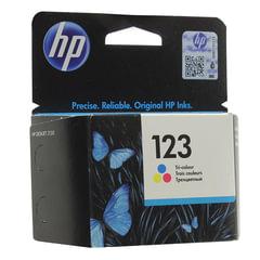 Картридж струйный HP (F6V16AE) Deskjet 2130, №123, цветной, оригинальный, ресурс 100 стр.