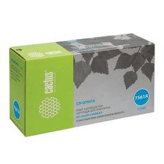 Картридж лазерный HP (Q7561A) ColorLaserJet 2700/3000, голубой, ресурс 3500 стр., CACTUS, совместимый