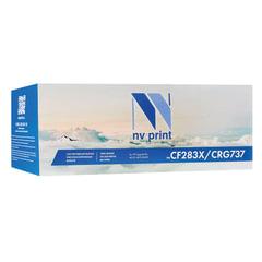 Картридж лазерный HP/CANON (CF283X/737) LJ M201/225/ MF211/212/216, ресурс 2200 стр., NV PRINT, совместимый