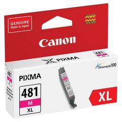 Картридж струйный CANON (CLI-481M XL) для PIXMA TS704 / TS6140, пурпурный, ресурс 474 страницы, оригинальный