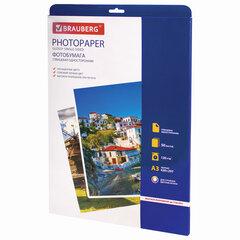 Фотобумага для струйной печати БОЛЬШОГО ФОРМАТА, А3, 120 г/м2, 50 л., односторонняя глянцевая, BRAUBERG, 363320