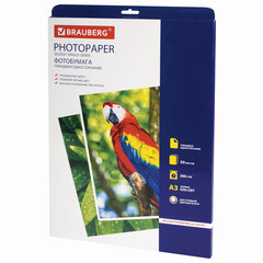 Фотобумага для струйной печати БОЛЬШОГО ФОРМАТА, А3, 200 г/м2, 50 л., односторонняя глянцевая BRAUBERG 363321