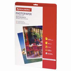 Фотобумага для струйной печати БОЛЬШОГО ФОРМАТА, A3, 120 г/м2, 50 л., односторонняя матовая, BRAUBERG, 363322