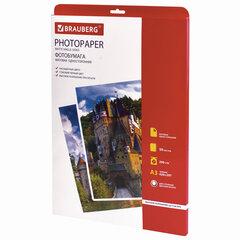 Фотобумага для струйной печати БОЛЬШОГО ФОРМАТА, A3, 200 г/м2, 50 л., односторонняя матовая, BRAUBERG, 363323