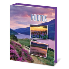 Фотоальбом BRAUBERG (БРАУБЕРГ) на 100 фотографий 10х15 см, твердая обложка, горный вид