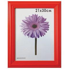 """Рамка премиум 21х30 см, """"Linda"""", дерево, красная (для дипломов, сертификатов, грамот, фотографий)"""