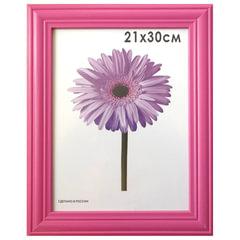 """Рамка премиум 21х30 см, """"Linda"""", дерево, малиновая (для дипломов, сертификатов, грамот, фотографий)"""