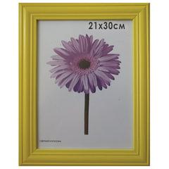 """Рамка премиум 21х30 см, """"Linda"""", дерево, желтая (для дипломов, сертификатов, грамот, фотографий)"""