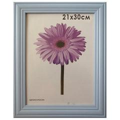 """Рамка премиум 21х30 см, """"Linda"""", дерево, голубая (для дипломов, сертификатов, грамот, фотографий)"""