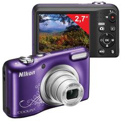"""Фотоаппарат компактный NIKON CoolPix А10, 16,1 Мп, 5х zoom, 2,7"""" ЖК-монитор, HD, фиолетовый"""