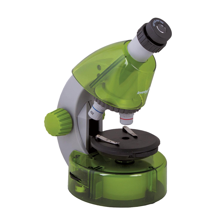 Микроскоп детский LEVENHUK LabZZ M101 Lime, 40-640 кратный, монокулярный, 3 объектива