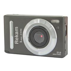 """Фотоаппарат компактный REKAM iLook S970i, 21 Мп, 8x zoom, 3"""" ЖК-монитор, HD, черный металлик"""