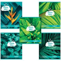 """Тетрадь 48 листов, клетка, обложка мелованный картон, блок офсет белый, """"Green Nature"""", BRAUBERG"""